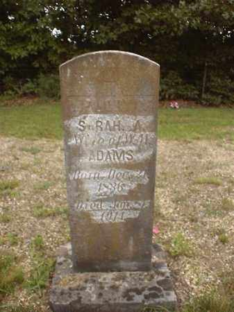 ADAMS, SARAH ANN - Marion County, Arkansas | SARAH ANN ADAMS - Arkansas Gravestone Photos