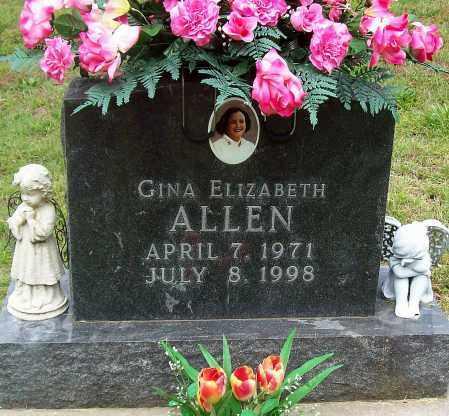 ALLEN, GINA ELIZABETH - Marion County, Arkansas | GINA ELIZABETH ALLEN - Arkansas Gravestone Photos