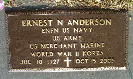 ANDERSON  (VETERAN 2 WARS), ERNEST N. - Marion County, Arkansas | ERNEST N. ANDERSON  (VETERAN 2 WARS) - Arkansas Gravestone Photos