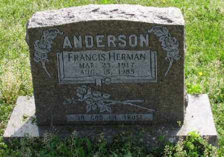 ANDERSON, FRANCIS HERMAN - Marion County, Arkansas | FRANCIS HERMAN ANDERSON - Arkansas Gravestone Photos