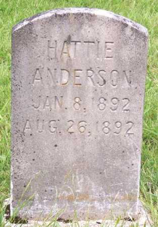 ANDERSON, HATTIE - Marion County, Arkansas | HATTIE ANDERSON - Arkansas Gravestone Photos