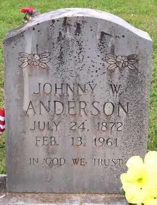 ANDERSON, JOHNNY W. - Marion County, Arkansas | JOHNNY W. ANDERSON - Arkansas Gravestone Photos