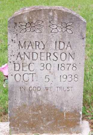 ANDERSON, MARY IDA - Marion County, Arkansas | MARY IDA ANDERSON - Arkansas Gravestone Photos