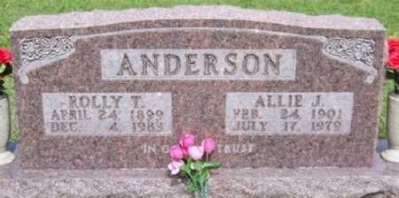 ANDERSON, ROLLY T. - Marion County, Arkansas | ROLLY T. ANDERSON - Arkansas Gravestone Photos