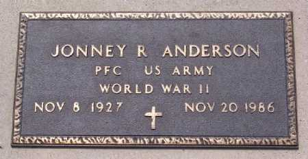 ANDERSON (VETERAN WWII), JONNEY R. - Marion County, Arkansas | JONNEY R. ANDERSON (VETERAN WWII) - Arkansas Gravestone Photos
