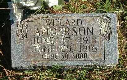 ANDERSON, WILLARD - Marion County, Arkansas | WILLARD ANDERSON - Arkansas Gravestone Photos