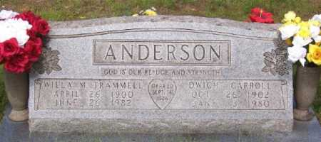 TRAMMILL ANDERSON, WILLA M. - Marion County, Arkansas | WILLA M. TRAMMILL ANDERSON - Arkansas Gravestone Photos