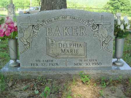 BAKER, DELPHIA MARIE - Marion County, Arkansas | DELPHIA MARIE BAKER - Arkansas Gravestone Photos