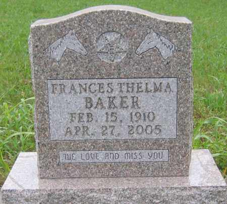 BAKER, FRANCES THELMA - Marion County, Arkansas | FRANCES THELMA BAKER - Arkansas Gravestone Photos