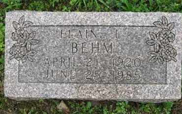 BEHM, ELAINE L. - Marion County, Arkansas | ELAINE L. BEHM - Arkansas Gravestone Photos