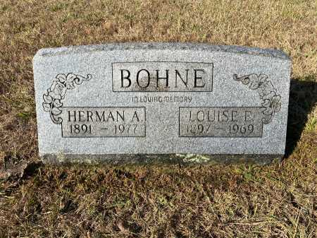 BOHNE, LOUISE E. - Marion County, Arkansas | LOUISE E. BOHNE - Arkansas Gravestone Photos