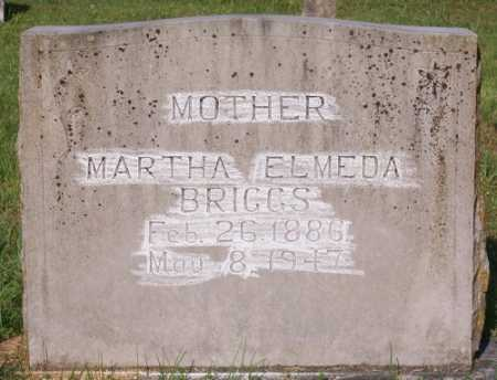 BRIGGS, MARTHA ELMEDA - Marion County, Arkansas | MARTHA ELMEDA BRIGGS - Arkansas Gravestone Photos