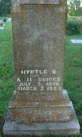 BRIGGS, MYRTLE B. - Marion County, Arkansas | MYRTLE B. BRIGGS - Arkansas Gravestone Photos
