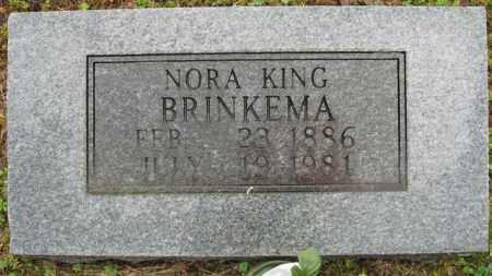 BRINKEMA, NORA - Marion County, Arkansas | NORA BRINKEMA - Arkansas Gravestone Photos