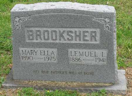 BROOKSHER, MARY ELLA - Marion County, Arkansas | MARY ELLA BROOKSHER - Arkansas Gravestone Photos