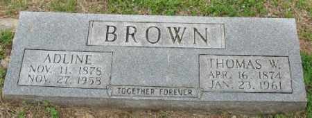 BROWN, THOMAS W. - Marion County, Arkansas | THOMAS W. BROWN - Arkansas Gravestone Photos