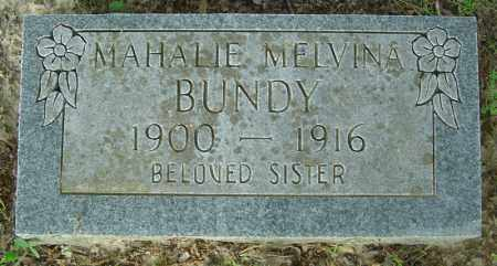 BUNDY, MAHALIE MELVINA - Marion County, Arkansas | MAHALIE MELVINA BUNDY - Arkansas Gravestone Photos