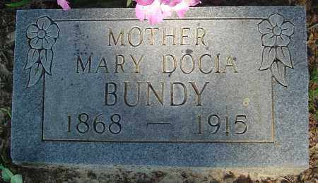 BUNDY, MARY DOCIA - Marion County, Arkansas | MARY DOCIA BUNDY - Arkansas Gravestone Photos