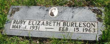BURLESON, RUBY ELIZABETH - Marion County, Arkansas | RUBY ELIZABETH BURLESON - Arkansas Gravestone Photos