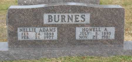 ADAMS BURNES, NELLIE - Marion County, Arkansas | NELLIE ADAMS BURNES - Arkansas Gravestone Photos