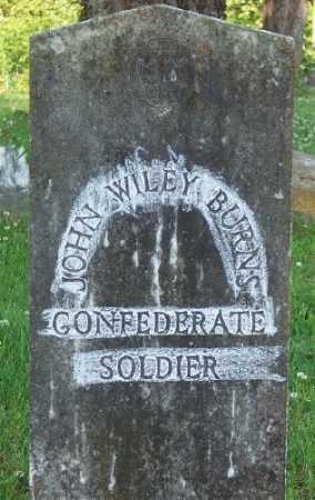 BURNS (VETERAN CSA), JOHN WILEY - Marion County, Arkansas   JOHN WILEY BURNS (VETERAN CSA) - Arkansas Gravestone Photos