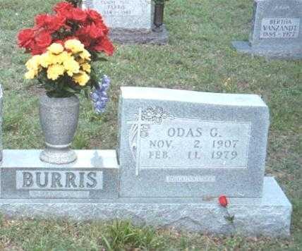 BURRIS, ODAS GEORGE - Marion County, Arkansas   ODAS GEORGE BURRIS - Arkansas Gravestone Photos
