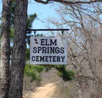 *ELM SPRINGS CEMETERY SIGN,  - Marion County, Arkansas |  *ELM SPRINGS CEMETERY SIGN - Arkansas Gravestone Photos