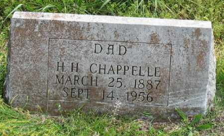 CHAPPELLE, H. H. - Marion County, Arkansas | H. H. CHAPPELLE - Arkansas Gravestone Photos