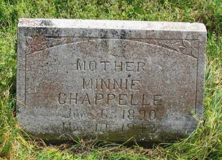 CHAPPELLE, MINNIE - Marion County, Arkansas | MINNIE CHAPPELLE - Arkansas Gravestone Photos