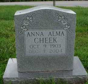 CHEEK, ANNA ALMA - Marion County, Arkansas | ANNA ALMA CHEEK - Arkansas Gravestone Photos