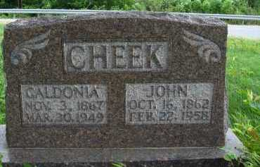 CHEEK, JOHN - Marion County, Arkansas | JOHN CHEEK - Arkansas Gravestone Photos