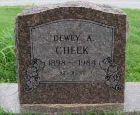 CHEEK, DEWEY A. - Marion County, Arkansas | DEWEY A. CHEEK - Arkansas Gravestone Photos