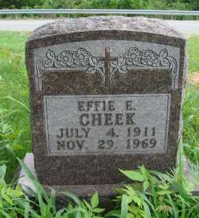 CHEEK, EFFIE E. - Marion County, Arkansas | EFFIE E. CHEEK - Arkansas Gravestone Photos