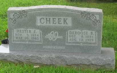 CHEEK, DEROOSE B. - Marion County, Arkansas | DEROOSE B. CHEEK - Arkansas Gravestone Photos