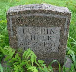 CHEEK, LUCHIN - Marion County, Arkansas | LUCHIN CHEEK - Arkansas Gravestone Photos
