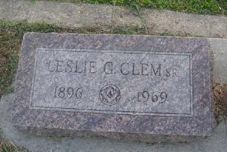 CLEM SR. (VETERAN  WWI), LESLIE G - Marion County, Arkansas | LESLIE G CLEM SR. (VETERAN  WWI) - Arkansas Gravestone Photos