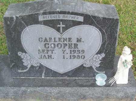 COOPER, CARLENE M. - Marion County, Arkansas | CARLENE M. COOPER - Arkansas Gravestone Photos