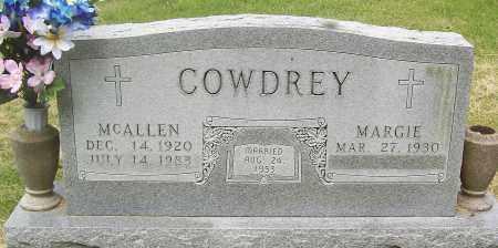 COWDREY (2), MCALLEN - Marion County, Arkansas | MCALLEN COWDREY (2) - Arkansas Gravestone Photos
