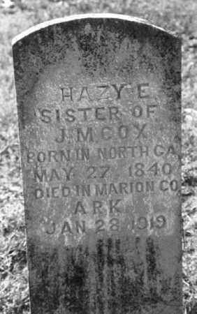 COX, HAZY E. - Marion County, Arkansas | HAZY E. COX - Arkansas Gravestone Photos