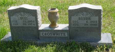 CROSWHITE, LOUIE - Marion County, Arkansas | LOUIE CROSWHITE - Arkansas Gravestone Photos