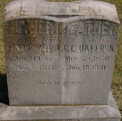 DAFFRON, C. L. - Marion County, Arkansas | C. L. DAFFRON - Arkansas Gravestone Photos
