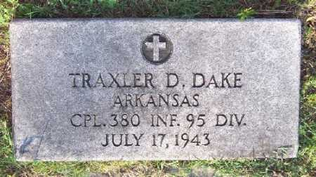 DAKE (VETERAN 2 WARS), TRAXLER D - Marion County, Arkansas | TRAXLER D DAKE (VETERAN 2 WARS) - Arkansas Gravestone Photos