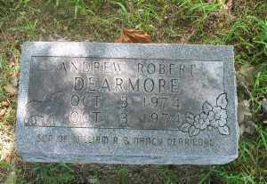 DEARMORE, ANDREW ROBERT - Marion County, Arkansas | ANDREW ROBERT DEARMORE - Arkansas Gravestone Photos