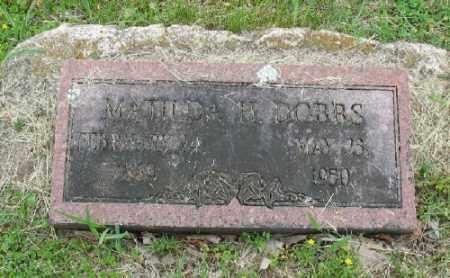 PERRY DOBBS, MATILDA H. - Marion County, Arkansas | MATILDA H. PERRY DOBBS - Arkansas Gravestone Photos