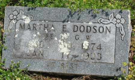 DODSON, MARTHA E. - Marion County, Arkansas | MARTHA E. DODSON - Arkansas Gravestone Photos