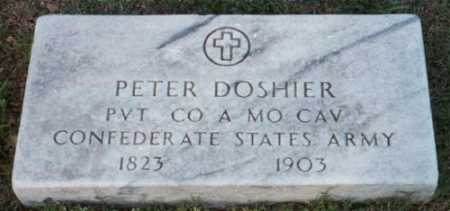 DOSHIER (VETERAN CSA), PETER - Marion County, Arkansas | PETER DOSHIER (VETERAN CSA) - Arkansas Gravestone Photos
