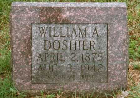 DOSHIER, WILLIAM A. - Marion County, Arkansas | WILLIAM A. DOSHIER - Arkansas Gravestone Photos