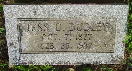 DUDLEY, JESS D. - Marion County, Arkansas | JESS D. DUDLEY - Arkansas Gravestone Photos