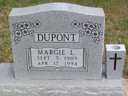 DUPONT, MARGIE L. - Marion County, Arkansas | MARGIE L. DUPONT - Arkansas Gravestone Photos