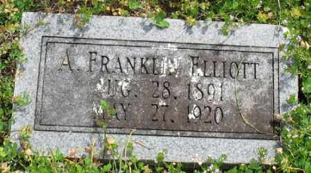 ELLIOTT, A. FRANKLIN - Marion County, Arkansas | A. FRANKLIN ELLIOTT - Arkansas Gravestone Photos